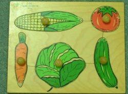 פאזל מעץ דורון לילד ירקות