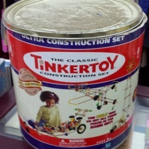 classic constraction set tinkertoy משחק הרכבה מעץ tinkertoy 1
