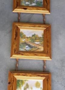 שלישיית תמונות מעץ ריקי