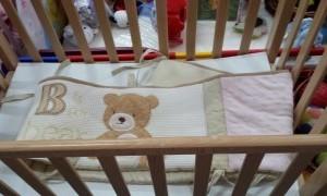 מגן ראש למיטת תינוק דובי