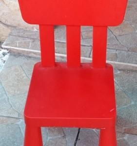 כסא איקאה אדום מזל